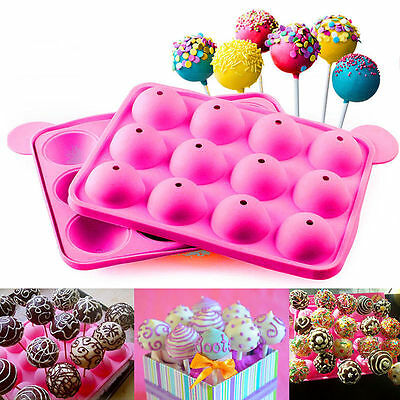 12 x Wholesale Joblot Non Stick Silicone 20 Cake Pop Set Cooking Baking Kitchen