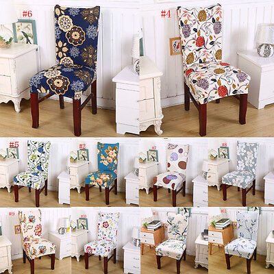 Floral Print Chair Covers Home Dining Multifunctional Spandex Chair Cover New #e