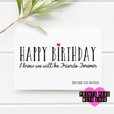Best Friends Forever Girls Birthday Card Friends Sisters Eur 3