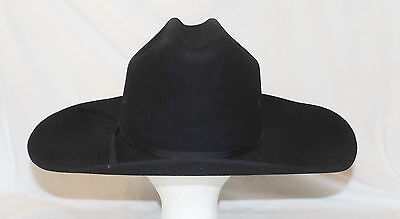 CHRIS EDDY BROS Cowboy Hat Black Size 7 XX Fur Blend Western ... 038d42e2c6a