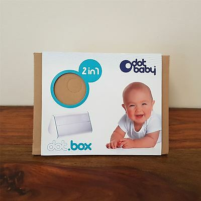Dot Baby Dot.Box 2 in 1 Wipes Dispenser Storage Box Baby Changing Blue *Defect*