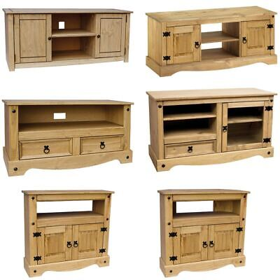 Corona Panama TV Cabinet Media DVD Units Wood Solid Pine Furniture New