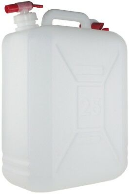25 Litre Jerry Can with Tap And Carry Handle - White - Yellowstone