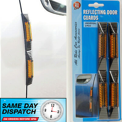 Car Door Edge Protector Car Guard  Reflecting Reflective Orange Classic Retro