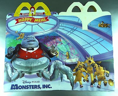 ANCIENNE BOITE HAPPY MEAL McDONALD'S / VINTAGE TOY BOX / MONSTERS & Cie / 2