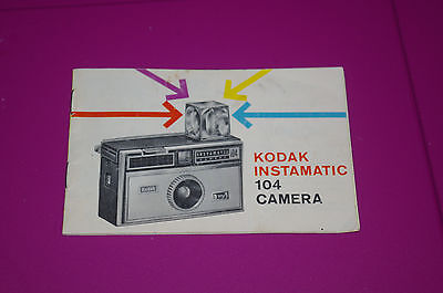 Vintage Kodak Instamatic 104 Camera Instruction Guide Booklet 14 Pages USA