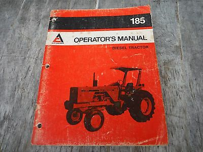 Allis Chalmers 185 Diesel Tractor Operators Manual