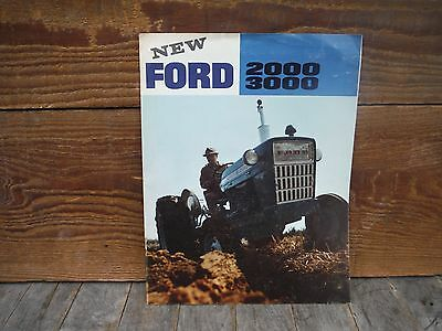 Vintage New Ford 2000 3000 Tractors Brochure Sales Catalog Neat Nr!