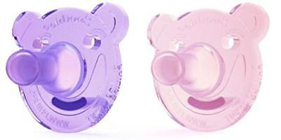 Philips AVENT Infant Baby Soothie Bear shape Pacifier, 0-3 Months,2 Count NEW