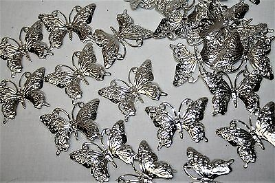 Silver Butterfly Table Scatter Wedding Celebration Decoration x 24
