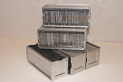 Lot of 6 Vintage Airequipt Straight Slide Projector Trays / Magazines