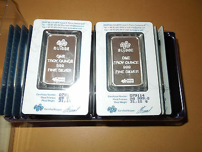 25x 1  troy ounce PAMP SUISSE Fortuna bars Ag .999 Fine Silver Swiss Made