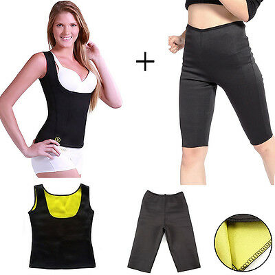 1 Canotta + 1 Pantalone Snellente Cami Shapers Training Dimagrante Palestra