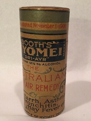 "Antique Booth's Hyomei ""Dri-Ayr"" Australian Dry Air Cure Pharmacy Advertising"
