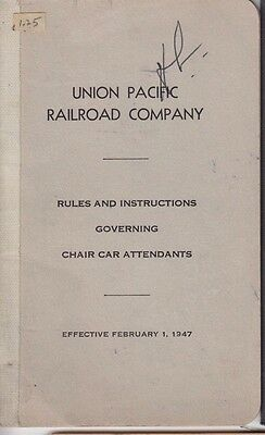 antique 1947 union pacific railroad company rules and instructions rh picclick com General Code of Operating Rules 2013 Gcor Manual for Railroads