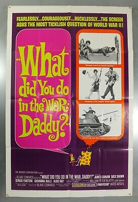 What Did You Do In The War Daddy? - Original American One Sheet Movie Poster