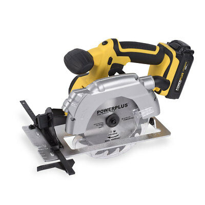 Powerplus 18v Li-ion Cordless 165mm Circular Saw, Battery & Charger POWX0076LI