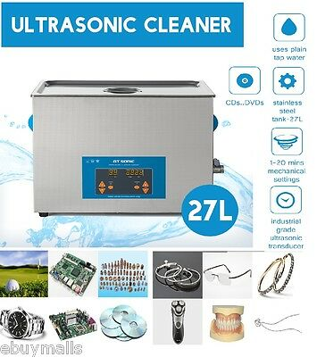 27 Litro Ultrasonic Cleaner Display  Limpiador ultrasónico for metal joyería DVD
