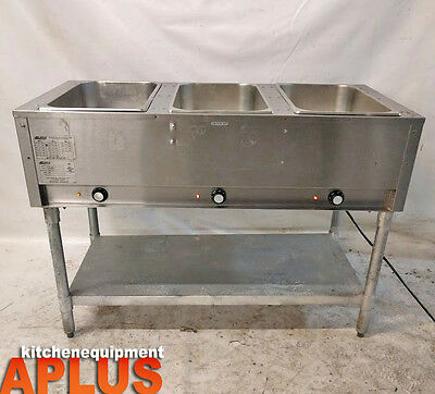 Eagle Group Dht3-120 Electric Hot Food Steam Table 3 Pan 120V Model