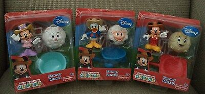 Fisher Price Mickey Mouse Clubhouse Farmer Mickey & Farmer Minnie & Donald *new*
