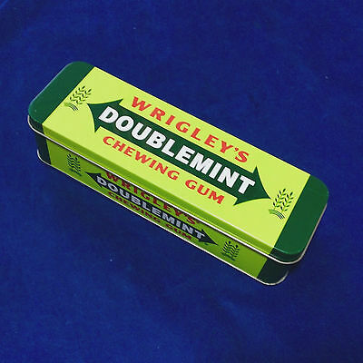 "Wrigley's Double Mint Chewing Gum Tin Container 7"" Empty"