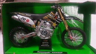 KAWASAKI KX450F Pastorello competition Motorcycle ,1:12 Scale Die-Cast