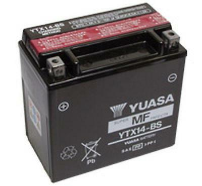 Yuasa YTX14-BS YTX14BS Motorcycle Battery BMW R1200GS 05-10