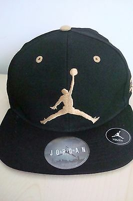 7a91293813615c New Nike Air Jordan Cap Hat Flex Gold Black Jumpman Youth Bulls 23 Snapback  8