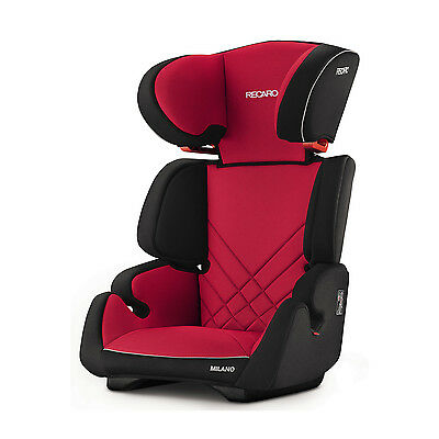 RECARO Germany Milano Racing Red Child Seat (15-36 kg) (33-80 lbs)