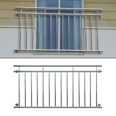 JULIET FRENCH BALCONY 100 x 90 cm SECURITY GRID STAINLESS STEEL BALUSTRADES