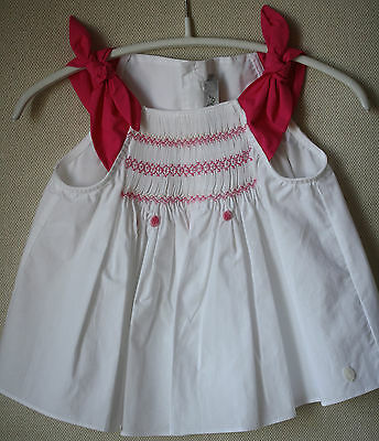 Baby Dior White Bow Blouse Top 18 Months