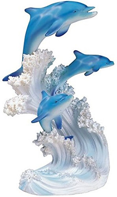 George S. Chen Imports SS-G-90085 Marine Life Three Dolphin Design Figurine