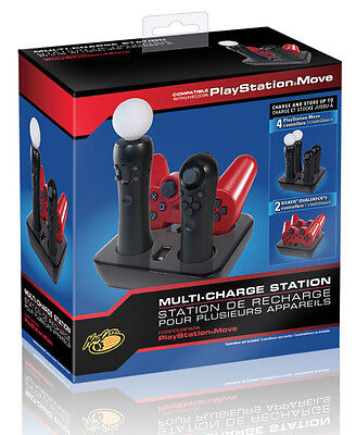 Quad-dock 4-in-1 Système d'Alimentation pour PS3 Playstation Move MAD CATZ