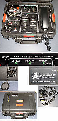 DIRECT LINK II CRISIS COMMUNICATION SYSTEM police swat hostage satellite? phone