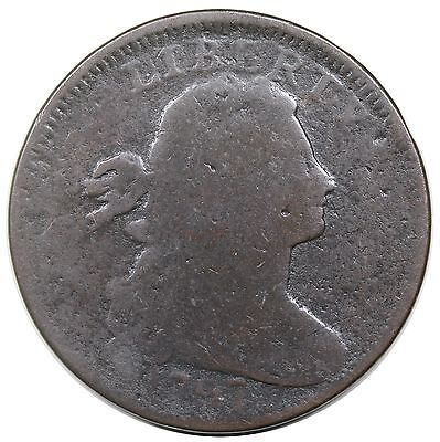 1797 Draped Bust Large Cent, Reverse of '97, Stems, S-128, R.3, G