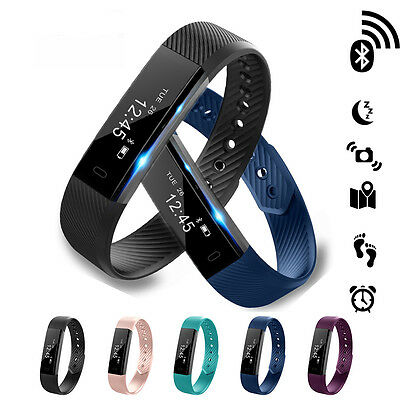 IP68 Waterproof Bluetooth Smart Watch Wrist Fitness Tracker For iPhone Android