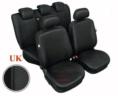 Tailored Black Car Seat Covers Full Set Eco Leather For BMW 1 series !
