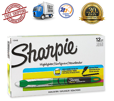 Sharpie Accent Liquid Pen Style Highlighter Chisel Tip Fluorescent Green Dozen