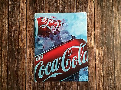 Tin Sign Vintage Iced Coca-Cola Cans