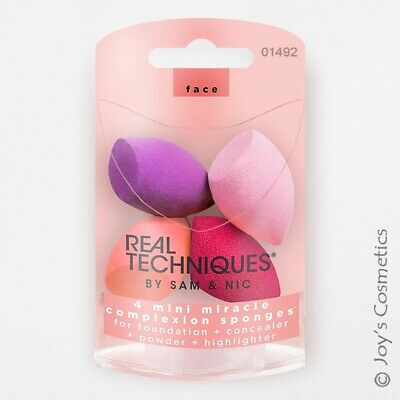 "1 REAL TECHNIQUES 4 Miracle Mini Complexion Sponges ""RT-1492""  *Joy's cosmetics*"