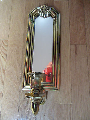 Home Interior wall decor gold burwood with mirror sconce candle holder