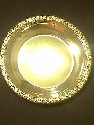 VINTAGE DUNKIRK STERLING SILVER BUTTER PLATE NUT DISH 21f - LOOK