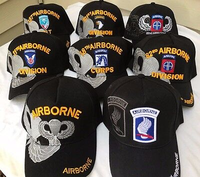 f91b6b49e US MILITARY AIRBORNE Embroidered Ball Cap Hat 11Th 18Th 82Nd 101St 173Rd  187Th