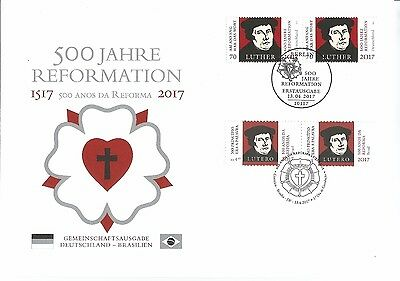 Z07 BRD Deutschland Germany 2017 500 Years Reformation Luther Special FDC ETB
