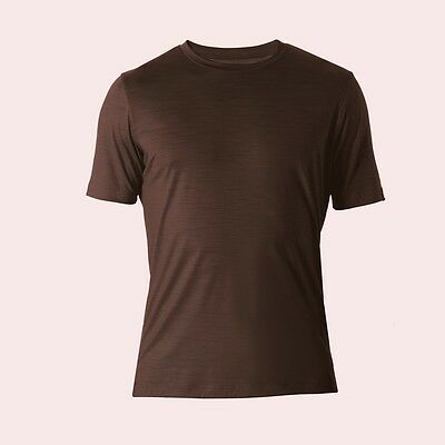 REDA Rewoolution Trick, Mens T-Shirt Short Sleeve 140, cacao, Merinowolle