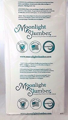 "Moonlight Slumber Little Dreamer Crib Mattress Dual Firmness 52"" x 27.5"" x 5"""
