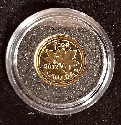 2012 Canada 1/25oz .9999 Fine Gold Coin - Farewell to the Penny