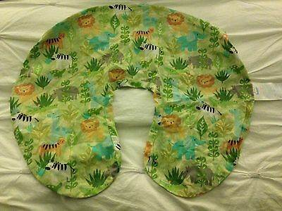 Boppy Pillow Case Cover Zoo Animals Tiger Lion Elephant Zebra