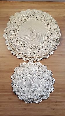 LOT 18 Vintage Antique Handmade Crocheted Lace Doilies Table Decor 1920s