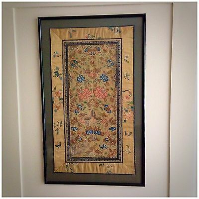ANTIQUE CHINESE EMBROIDERY including FORBIDDEN STITCH